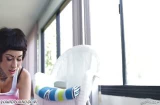 Спортивную Aayla Secura в  лосинах натянули после тренировки